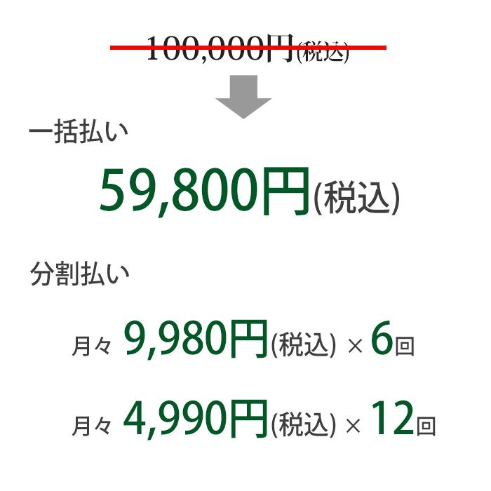 行列のできるFP事務所 教材価格(分割あり)
