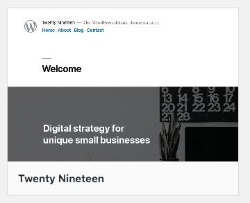 WordPress5の新テンプレート twenteen nineteen